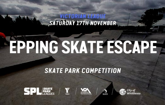 Get down to the Epping Skate Escape Skate Park on Saturday 17th November and compete in our skate, scooter or BMX competition.